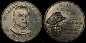 Click now to see the BUY IT NOW Price! WILLIAM MCKINLEY PRESIDENCY COMMEMORATIVE  FRANKLIN MINT  STERLING SILVER
