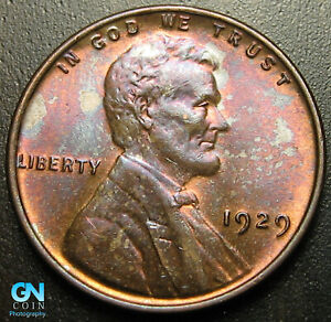 COLOR  1929 P LINCOLN CENT WHEAT PENNY      MAKE US AN OFFER   G7218
