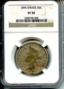 Click now to see the BUY IT NOW Price! MALAYSIA  1894  50 CENTS  NGC  VF30