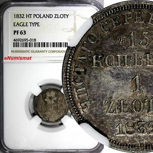 Click now to see the BUY IT NOW Price! POLAND SILVER PROOF 1832 SPB HT ZOTY 15 KOPEKS NGC PF63 1 GRADED HIGHEST C 129