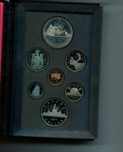 CANADA 1987  DAVIS STRAIT  7 COIN  PROOF SET ORIGINAL 2023L