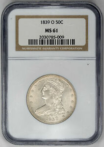 Click now to see the BUY IT NOW Price! 1839 O 50C CAPPED BUST HALF DOLLAR   TYPE 3 REEDED EDGE   NGC MS61 US  COIN