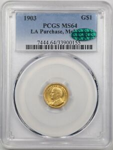 1903 G$1 LA PURCHASE MCKINLEY GOLD COMMEMORATIVE DOLLAR MS64 PCGS 33900155 CAC