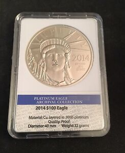 2014 PLATINUM EAGLE COMMEMORATIVE COIN  PROOF   AMERICAN MINT WITH COA