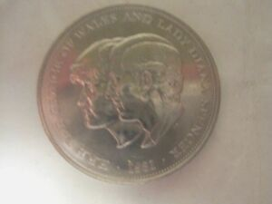 BRITISH CROWN COIN TO COMMEMORATE THE MARRIAGE OF PRINCE CHARLES & DIANA 1981