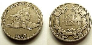 X/F 1857 FLYING EAGLE CENT STRONG DETAILS ATTRACTIVE COLOR EYE APPEAL  FREE SHIP