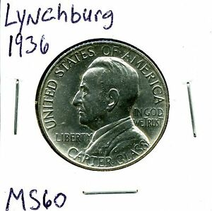 1936 50C LYNCHBURG COMMEMORATIVE HALF DOLLAR IN UNCIRCULATED CONDITION