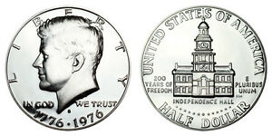 1976 S GEM BU PROOF KENNEDY HALF DOLLAR 50 CENT BRILLIANT UNCIRCULATED COIN PF