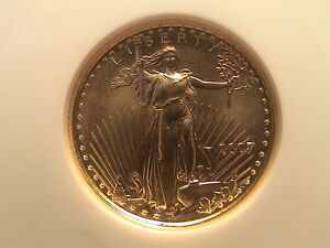 2007 GOLD $5.00 AMERICAN EAGLE NGC MS 69 EARLY RELEASES.