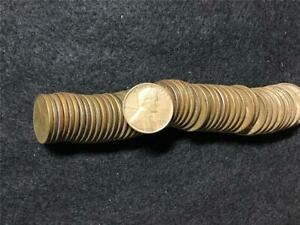 ROLL 50 WHEAT PENNIES PENNY LINCOLN CENTS COPPER 1953 D CIRCULATED