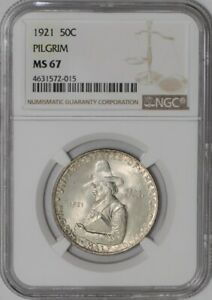 Click now to see the BUY IT NOW Price! 1921 PILGRIM 50C  MS67 NGC   938945 5