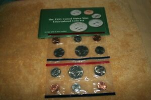 U S MINT UNCIRCULATED COIN SET 1993