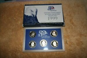 U S QUARTERS PROOF COIN SET 1999