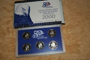 U S MINT QUARTERS PROOF SET 2000