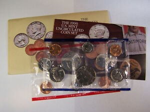 1990 U.S. UNCIRCULATED MINT SET       10 COINS