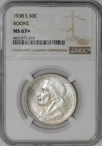 Click now to see the BUY IT NOW Price! 1938 S BOONE 50C 941246 83 MS67  NGC