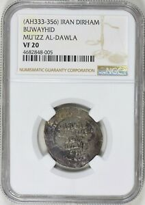 Click now to see the BUY IT NOW Price! ISLAMIC KINGDOMS BUWAYHIDS. MU'IZZ AL DAWLA A.D. 955 978 DIRHAM NGC VF 20