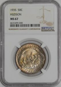 Click now to see the BUY IT NOW Price! 1935 HUDSON 50C 939383 31 MS67 NGC