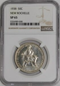 Click now to see the BUY IT NOW Price! 1938 NEW ROCHELLE 50C 941532 1 SP65 NGC