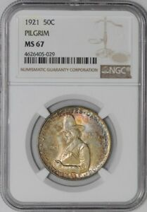Click now to see the BUY IT NOW Price! 1921 PILGRIM 50C 938572 20 MS67 NGC