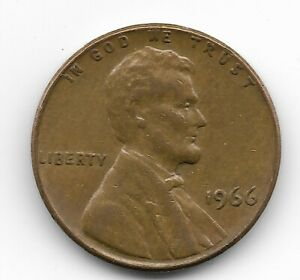 1966 66 LINCOLN MEMORIAL PENNY ONE CENT COIN COLLECTIBLE ERROR DDO DATE 9 DOUBLE