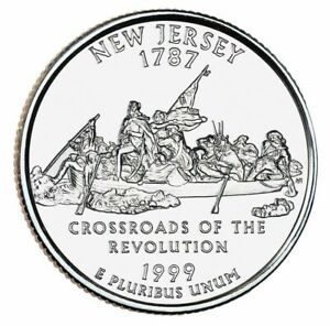 1999 P NEW JERSEY STATE QUARTER CIRCULATED COIN FINISH YOUR COIN BOOK. 0089