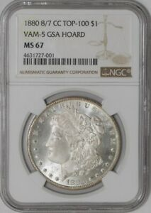 Click now to see the BUY IT NOW Price! 1880 CC MORGAN DOLLAR $ 8/7 VAM 5 GSA HOARD 939503 1 MS67 NGC