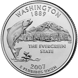 2007 P WASHINGTON STATE QUARTER BU COIN CLAD. FINISH YOUR COIN BOOK 0218