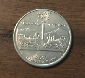 2007 P UTAH 50 STATE QUARTER  BUY 6 GET 40  OFF  08012  TONED