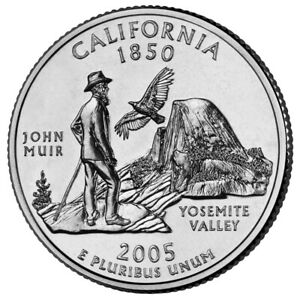 2005 P CALIFORNIA STATE QUARTER BU COIN CLAD. FINISH YOUR COIN BOOK  0208