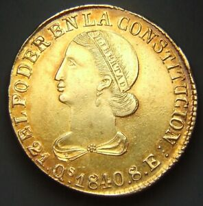 Click now to see the BUY IT NOW Price! ECUADOR QUITO 8 SCUDI 1840 RARISSIMO SPL  ID 89540