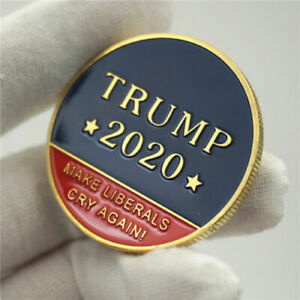 US 45TH PRESIDENT DONALD TRUMP 2020 MAKE LIBERALS CRY AGAIN   CHALLENGE COINS VY