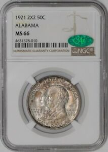 Click now to see the BUY IT NOW Price! 1921 ALABAMA 2X2 50C MS66 NGC   CAC   939013 1