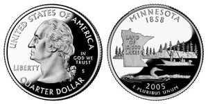 2005 S GEM BU PROOF MINNESOTA STATE QUARTER BRILLIANT UNCIRCULATED COIN PF