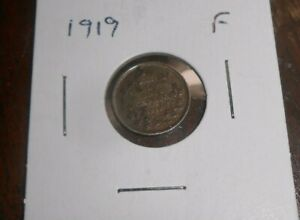 CANADA/CANADIAN 1919 SILVER 5 CENTS COIN