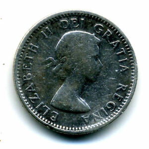 1953 SILVER CANADIAN DIME 10 CENT SHARP ABOVE AVERAGE CANADA TEN C COIN4346