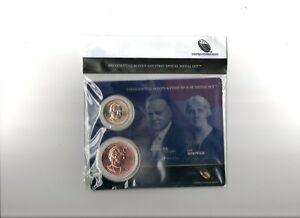 2014 HERBERT & LOU HOOVER PRESIDENTIAL 1 $ & FIRST SPOUSE MEDAL SET