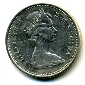 1968 CANADIAN QUARTER SILVER 25 CENT SHARP ABOVE AVERAGE DETAIL CANADA COIN4270
