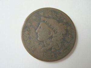 1837  LARGE CENT SMALL LETTERS  3RD HEAD GOOD