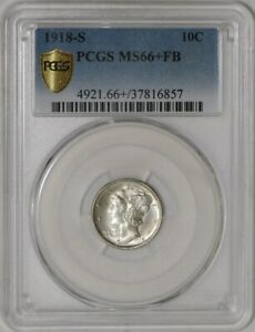 Click now to see the BUY IT NOW Price! 1918 S MERCURY DIME 10C MS66  FB SECURE PLUS PCGS   941292 1
