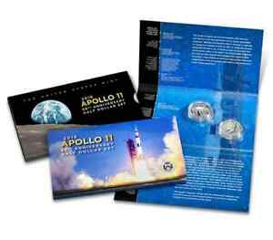 2019  S  U.S. MINT   APOLLO 11 PROOF HALF DOLLAR SET  19CF  PACKAGING ERROR