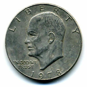 NICE 1978 D EISENHOWER DOLLAR CHOICE BRILLIANT UNCIRCULATED MINT STATE COIN4350