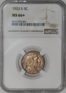 Click now to see the BUY IT NOW Price! 1923 S BUFFALO NICKEL 5C MS66  NGC  939188 16