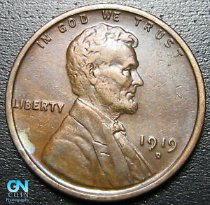1919 D LINCOLN CENT WHEAT PENNY      MAKE US AN OFFER   P0361