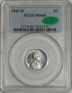 1943 D LINCOLN CENT 1C MS68 PCGS   CAC   941738 4