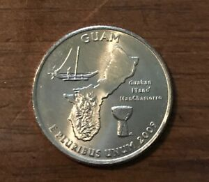2009 P GUAM U.S. TERRITORIES QUARTER  BUY 6 GET 40  OFF  0927  BU
