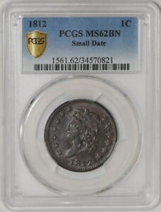 Click now to see the BUY IT NOW Price! 1812 LARGE CENT 1C SMALL DATE MS62 BN SECURE PLUS PCGS  937483 2