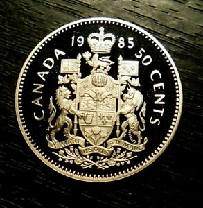 CANADA 1985 50 CENTS PROOF CAMEO   FROM RCM SET