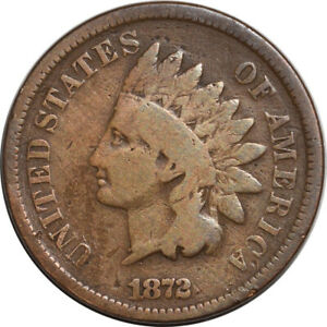 1872 INDIAN CENT TOUGH DATE DECENT CIRCULATED