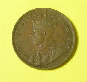 1917CANADIAN LARGE CENT EXTRA FINE /AU NICE COLLECTABLE GRADE